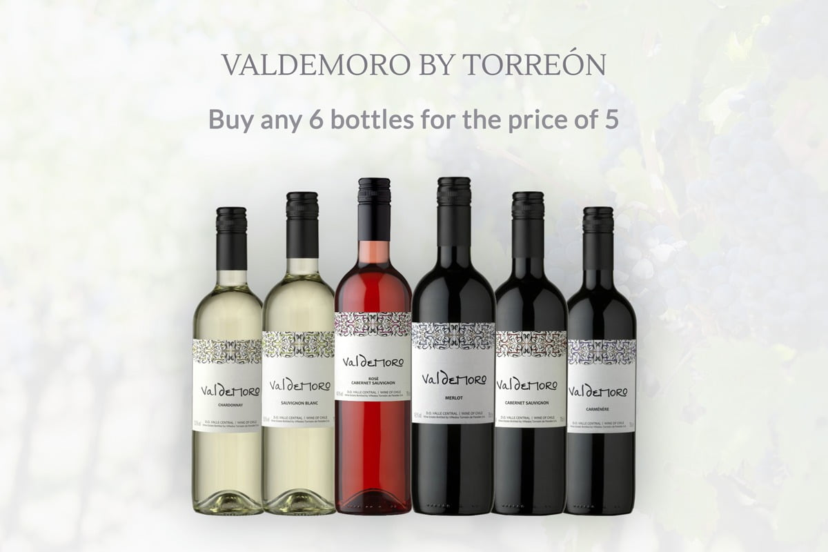 Valdemoro Wine Offer - 6 Bottles for Price of 5