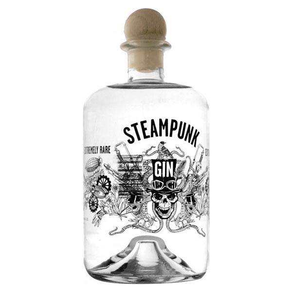 steam punk gin bottle